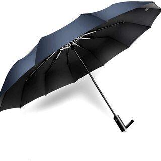 折りたたみ傘 ワンタッチ自動開閉 頑丈な12本骨 台風対応 耐強...