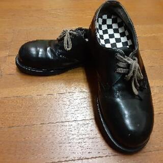 ドクターマーチン 26.5センチ 30年前のもの、鉄板入りオデコ靴。