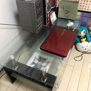 ガラステーブル 中古 配送市内2000円