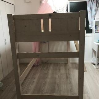ベッド シングル ロフト 木 パイン