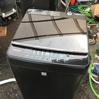 ハイセンス 人気のマットブラック洗濯機