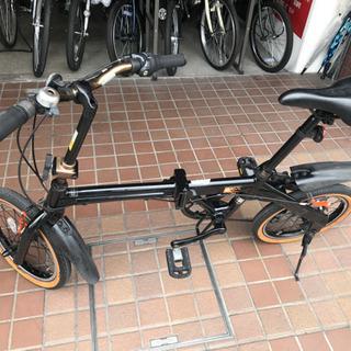 16インチ 折り畳み自転車 外装6段変速付き ブラック