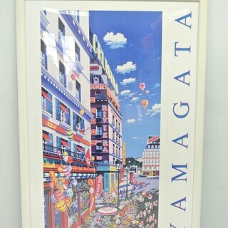 ヒロ ヤマガタ YAMAGATA 1993 アートポスター 額付き