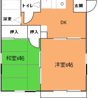 2DK 5万円 駅徒歩14分 動画有 閑静住宅街 防災公園近郊
