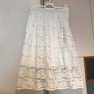 レーススカート/白