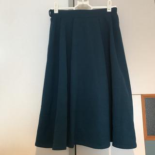 フレアスカート/濃緑