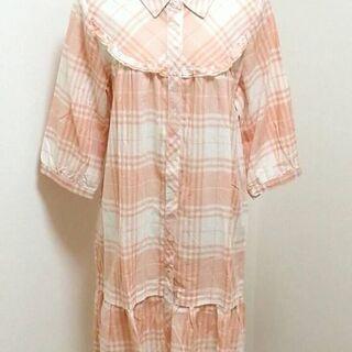 ふわふわ系ピンク☆チェックシャツ
