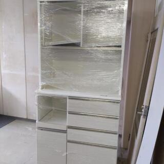 ニトリ食器棚 ホワイトの画像