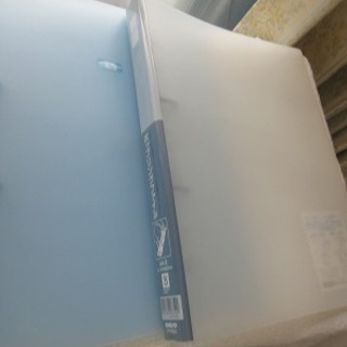 2穴ファイル 2冊セット 青とグレー