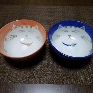 猫柄お茶碗