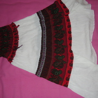 未使用 総丈90 首元で結ぶスカート マキシスカート バスローブ...