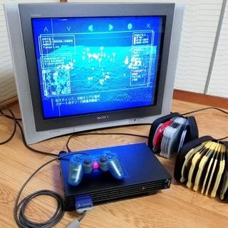 【ブラウン管テレビでPS2!】テレビ+PS2+ゲームソフトいろい...