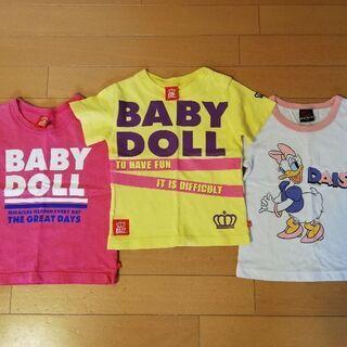 BABYDOLL 90〜100Tシャツ 3枚セット