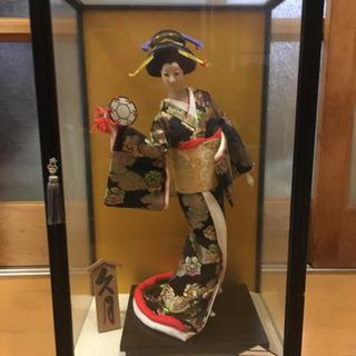 久月☆日本人形 ガラスケース入り