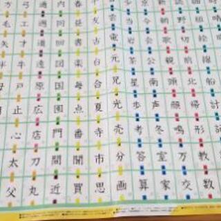 2年生 お風呂に張れる漢字ポスター