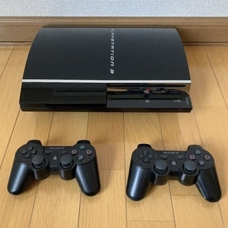 PS3 本体+コントローラ2本(ケーブル等有り)初期CECHA0...