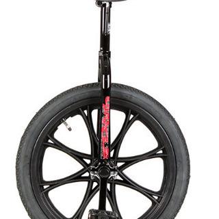 一輪車18インチ 黒 美品 黒のスタンド付