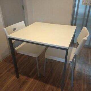 IKEAダイニングテーブルセット 75×75×74  椅子2脚セット