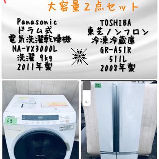 ‼️👏ドラム式洗濯機入荷‼👏️🌸⭐️ファミリー向け大容量2…