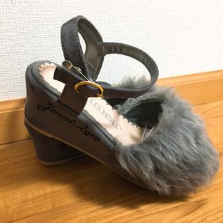 美品JENNI love  kids靴 ファー付きサンダル 21...