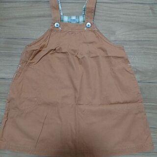 オレンジジャンパースカート110