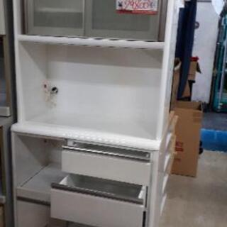 ☆中古 激安!!キッチンボード 食器棚 キッチン 収納 ホワイト...