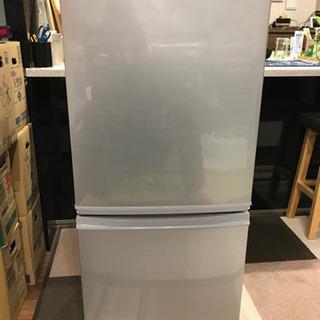 シャープ 2ドア冷蔵庫 137L 2015年製