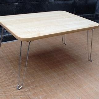 便利な折りたたみテーブル カラーはナチュラル ニトリのお品