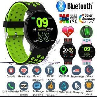 これほぼ新品!スマートウォッチ 血圧計等あり!Bluetooth...