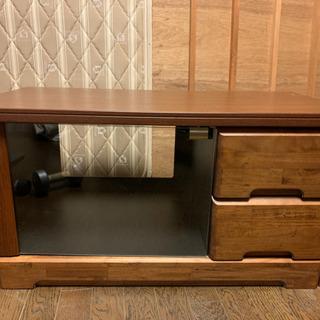 テレビ台とビデオ入る棚