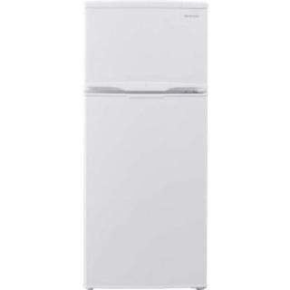 冷蔵庫 118L 2ドア コンパクト×ホワイト