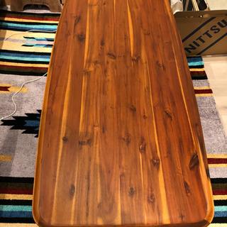 天然木アカシア仕様のローテーブル センターテーブル