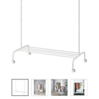 IKEA ハンガーラック ホワイト (3ヶ月使用)