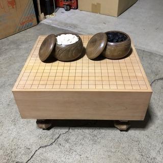 とても綺麗!高級 囲碁セット 脚付き碁盤 碁石 碁笥 ボードゲーム