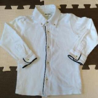 長袖 白 ポロシャツ