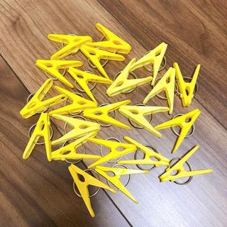 黄色系洗濯バサミ20個セット+2個おまけ