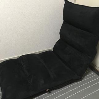 LOWYA 座椅子(黒) ほぼ未使用品