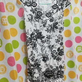 チャイナドレス 中華風 ワンピース 花柄 刺繍 Mサイズ