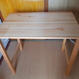 完売御礼!折り畳みテーブル 無印 食事も勉強も、一人用に!+ 椅...