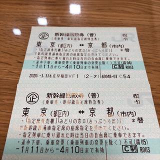 新幹線回数券 東京⇄京都