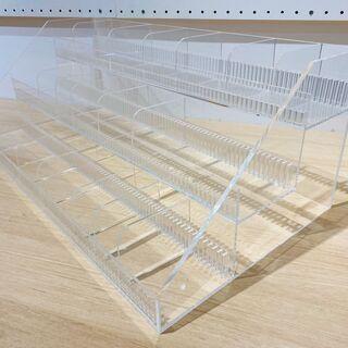 アクリル透明小物ボックス3段タイプ