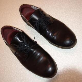 ships プレーントゥシューズ 革靴 黒