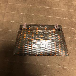 竹籠バッグ   21x12.5x11センチ