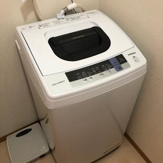 極上品!2019年製日立HITACHI5.0キロ洗濯機NW-50...