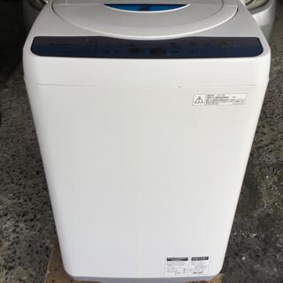 シャープ 全自動洗濯機 5.5Kg ブルー ESGE55L-A ...