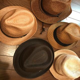 麦わら帽子5点 カンカン帽