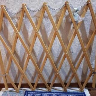 ベビーガード 柵 伸縮 木製
