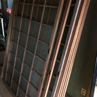 木製 ガラス戸 2