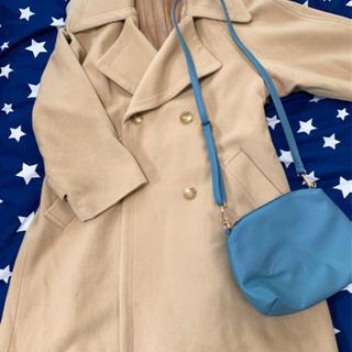 【決まりました!】コートとくすみブルーバッグセット