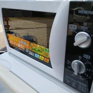 アイリスオーヤマ電子レンジ2016年製造「アルコール消毒済み👌」